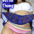 Glitter Thong